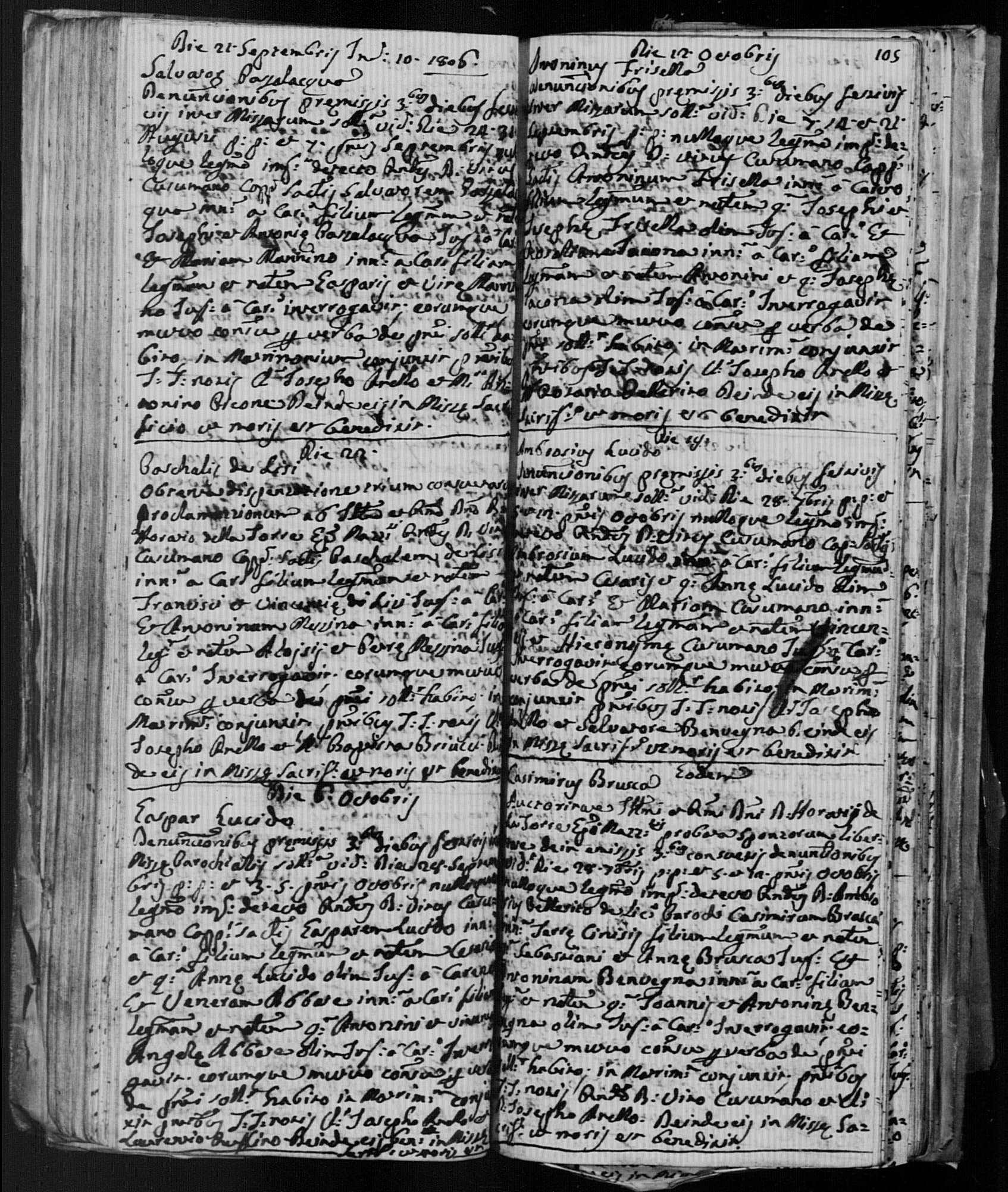Casimiro Brusca - 1806 Italy Marriage record.jpg