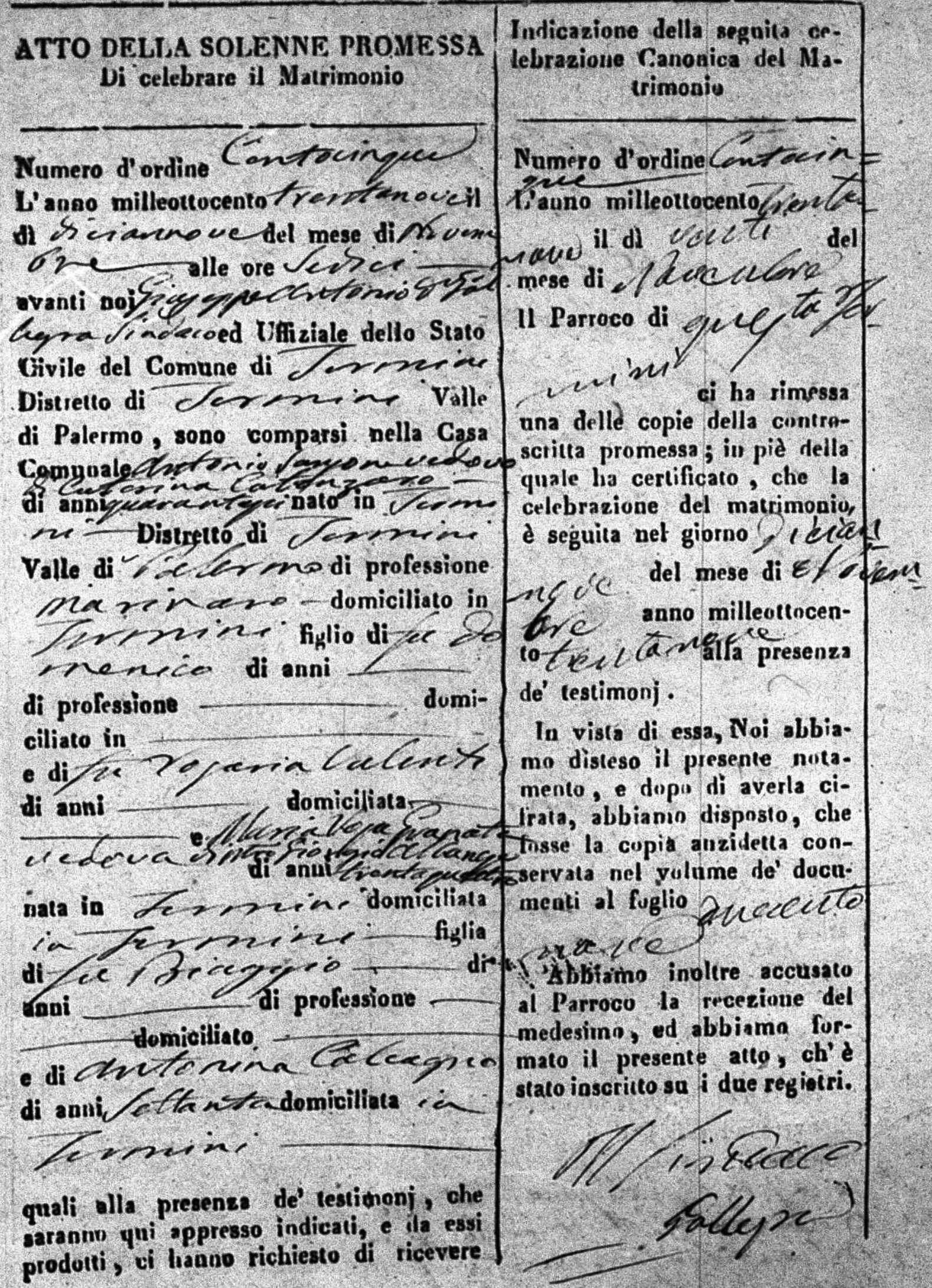 Sansone Antonino Maria Rose Granata Marriage .jpg