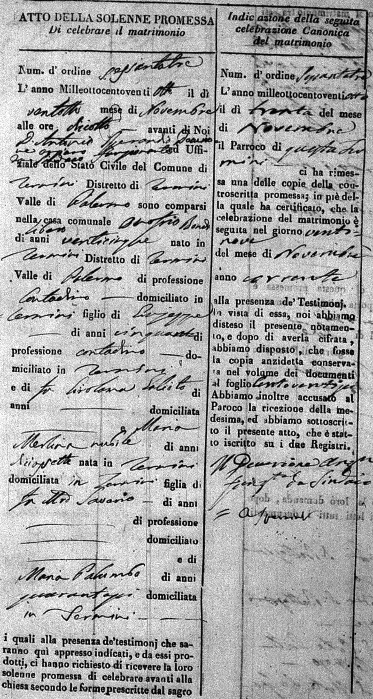 Bondi Onofrio Merlina Maria Marriage 1828 (A).jpg