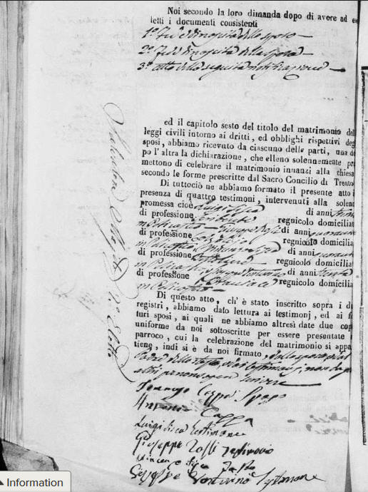Petilia Policastro Marriage Tomasso Cappa & Maria Sisca #40 1848 page 2aa.jpg