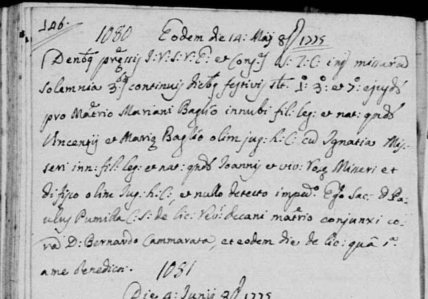 Marriage record of Mariano Baglio.jpg