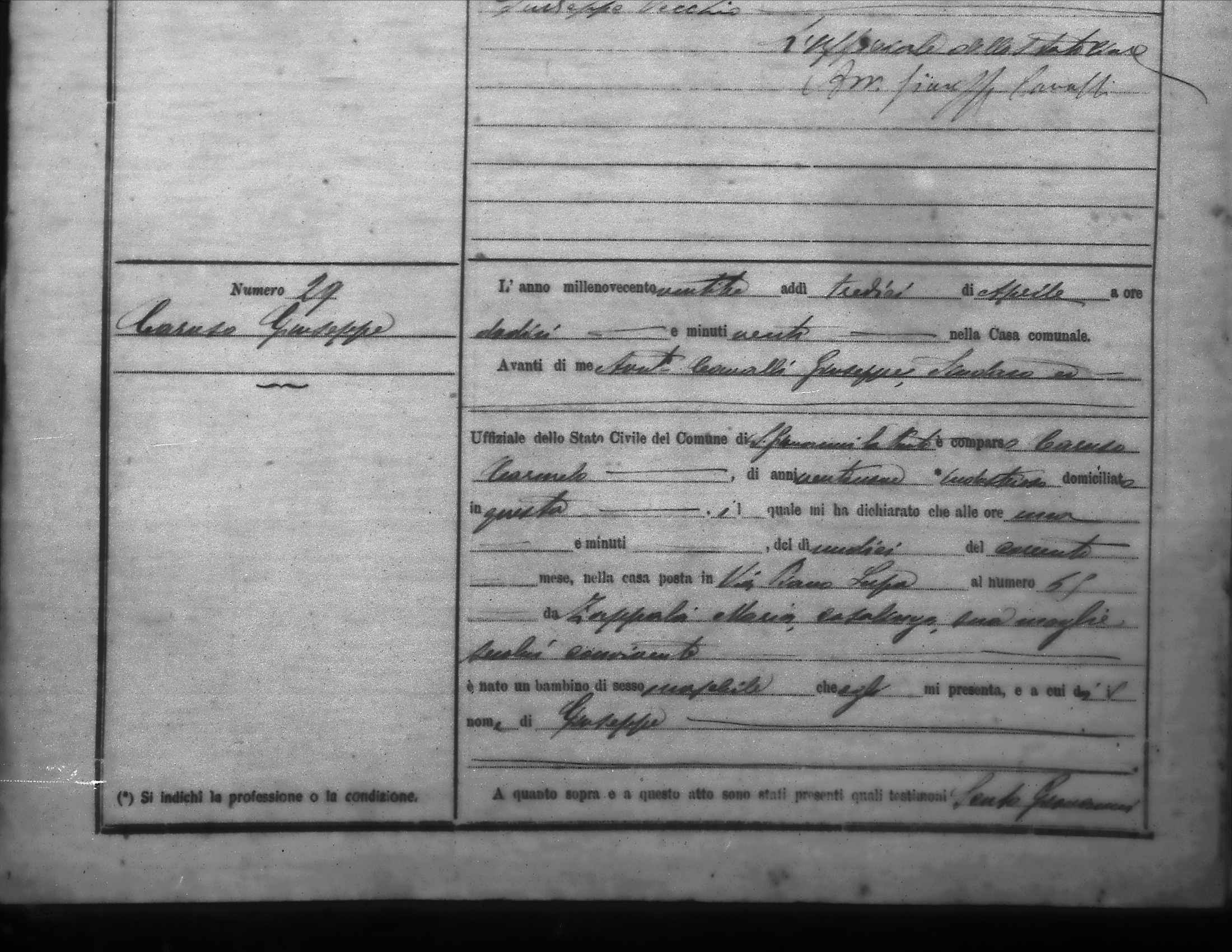 Giuseppe Caruso birth record page 1.shrink.jpg