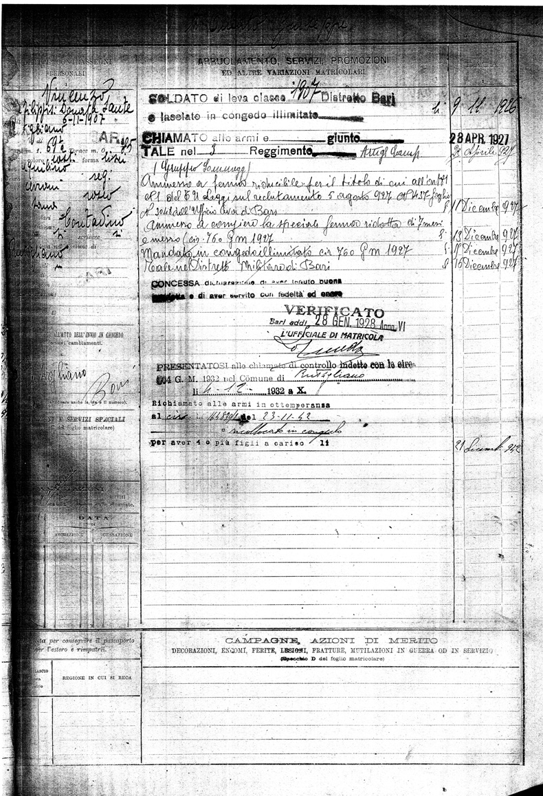 Vincenzo Damato Military Record.jpg