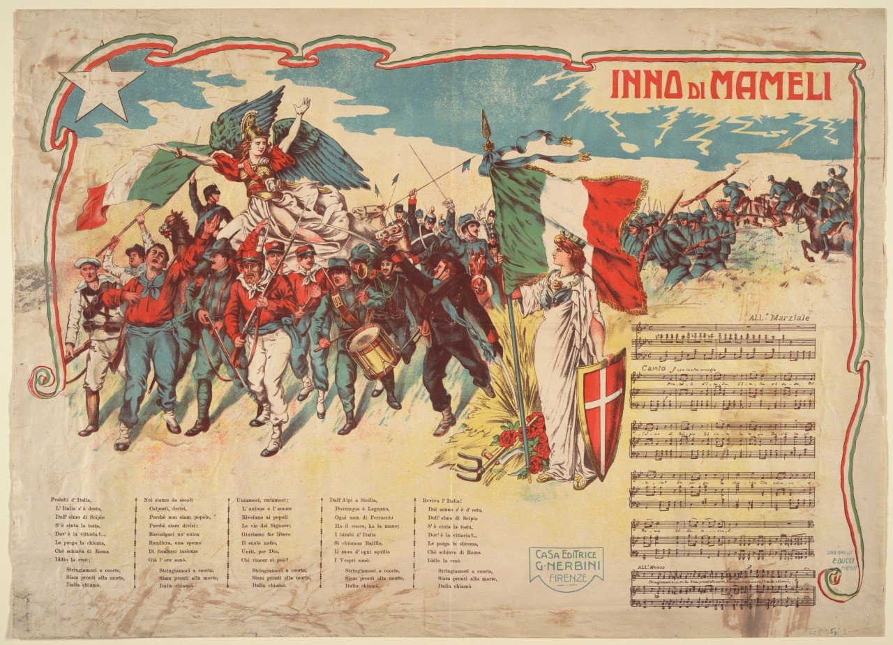 What do the words of the Italian national anthem, Il Canto degli Italiani mean?