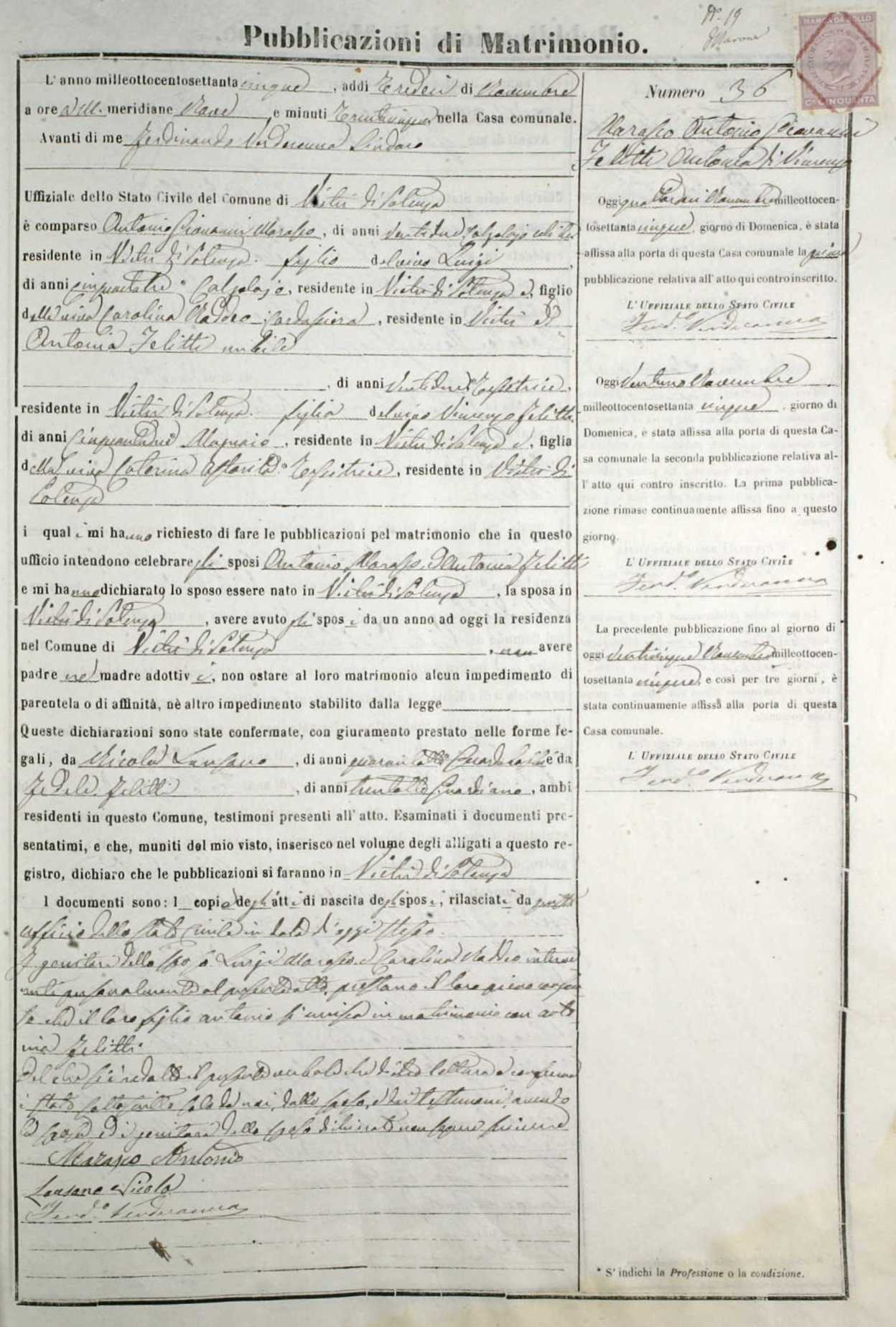 Antonio Marasco and Antonia Felitto marriage license cropped.jpg