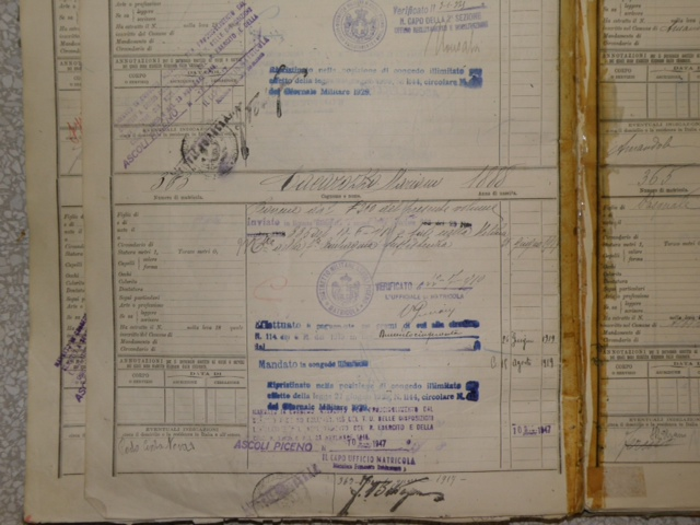 Mariano Caccarozzo Military record 2.png