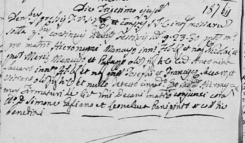 marriage record of Girolamo Mancuso and Antonina Santoro, II.jpg