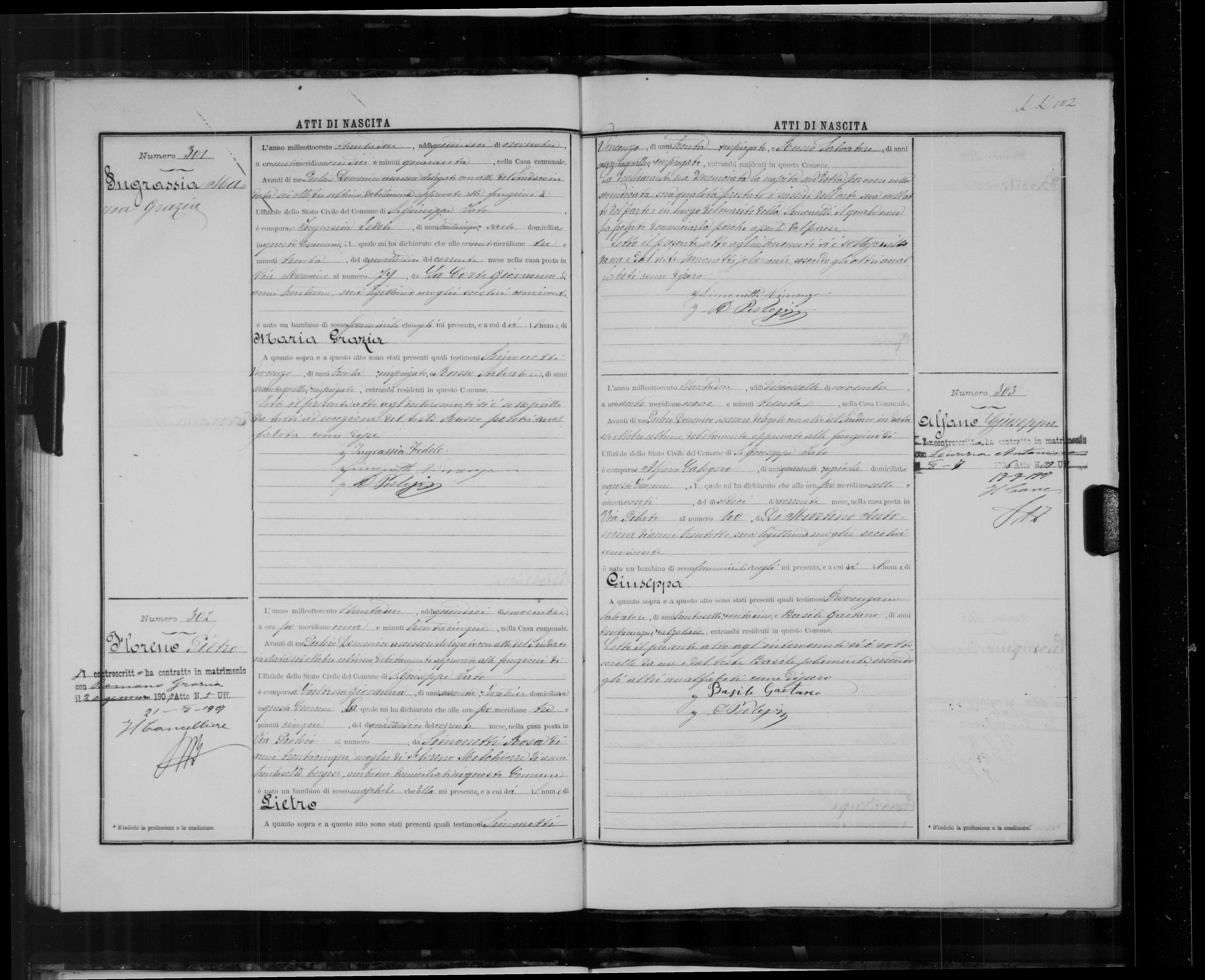 pietro floreno birth record.jpg