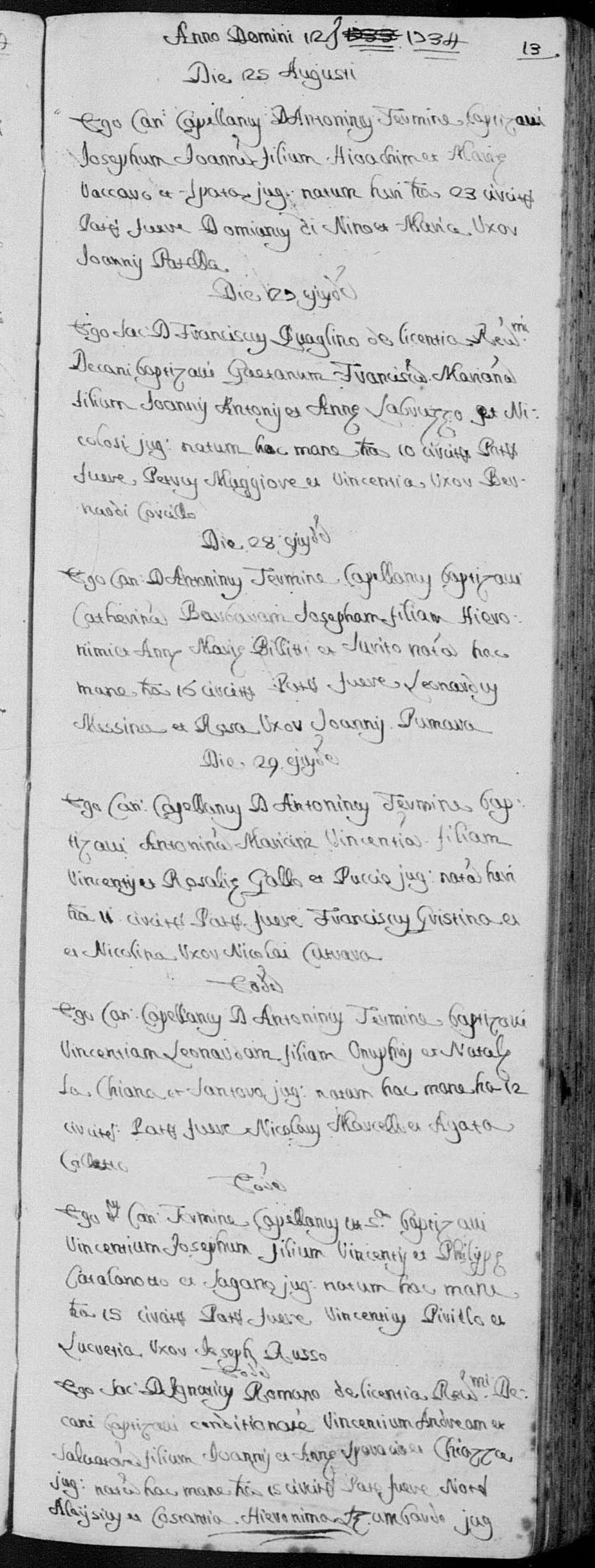 Baptismal record of Vincenzo Sparacio.jpg