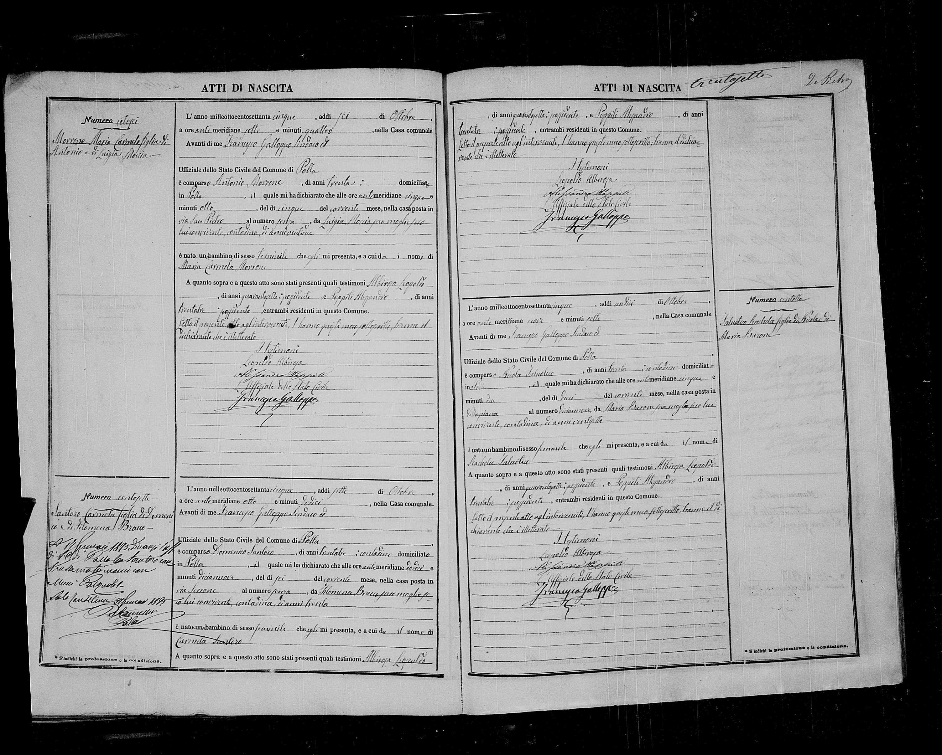 Carmela Santoro birth record.jpg